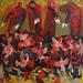 Охота на птиц. 1977. Холст, масло. 202,2х202,2. Красноярский художественный музей им. В.И. Сурикова