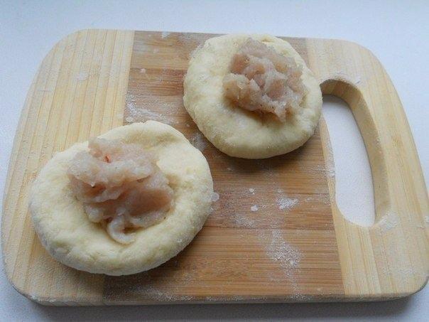 Галушки из картофельного теста с мясом