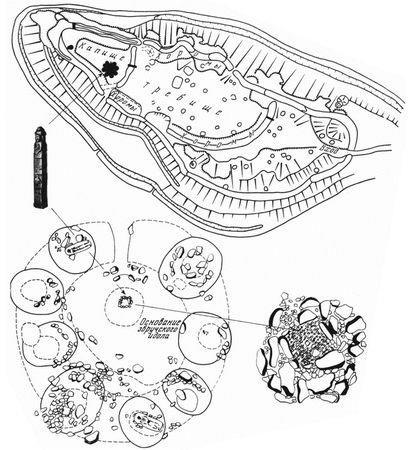 Существовавший вплоть до XIII в. Збручский сакральный комплекс.