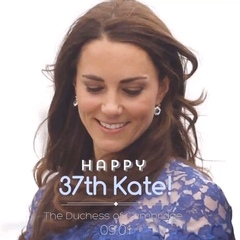 Wishing Catherine a very happy 37th birthday!