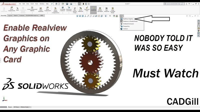 Enable Realview Graphics in SolidWorks Easiest Way
