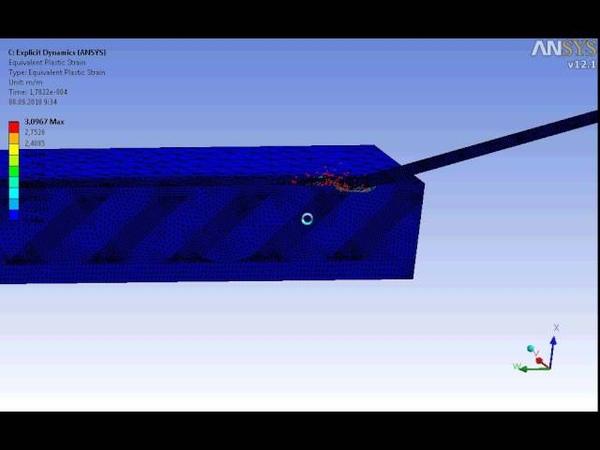 Взаимодействие подкалиберного снаряда с комбинированной преградой