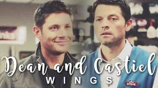 Dean and Castiel - Wings