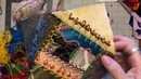 Crazy Quilt Friday ~ Buttonhole Chain Lazy Daisy Stitches and More ~ DancesWithPitBulls ~