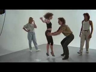 Репетиция на съемках фильма Грязные танцы/ Rehearsal on the set of the film Dirty Dancing