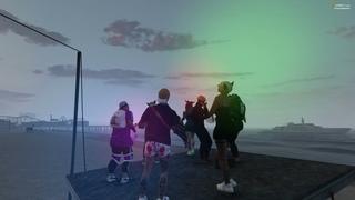 Танцы в 6 утра на пляже .....