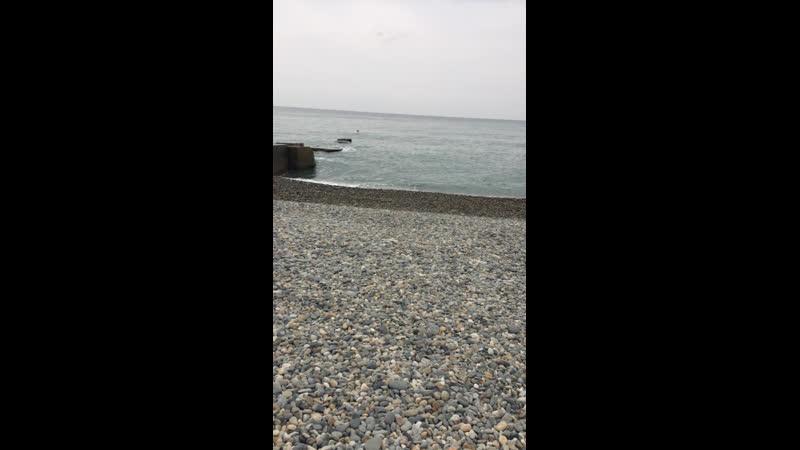Море Адлер шторм