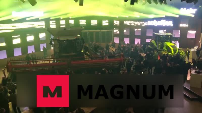 Мультимедийное световое шоу от компании CLAAS на AGRITECHNICA2019