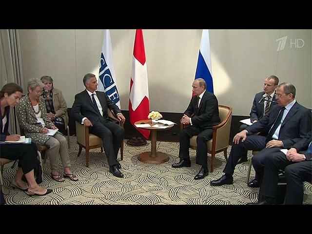 Владимир Путин и Дидье Буркхальтер обсудили пути выхода из украинского кризиса - Первый канал