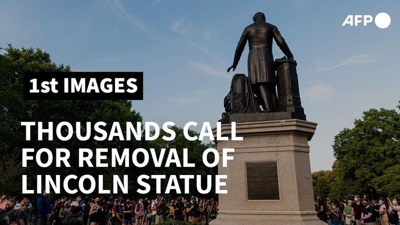 Protesters condemn Lincoln statue in Washington   AFP
