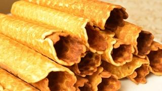 Как приготовить вафельные трубочки. | How to prepare a wafer rolls МАМИНЫ РЕЦЕПТЫ