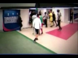 Brandão Fight with Thiago Motta in the Tunnel Psg vs Bastia 16/08/2014