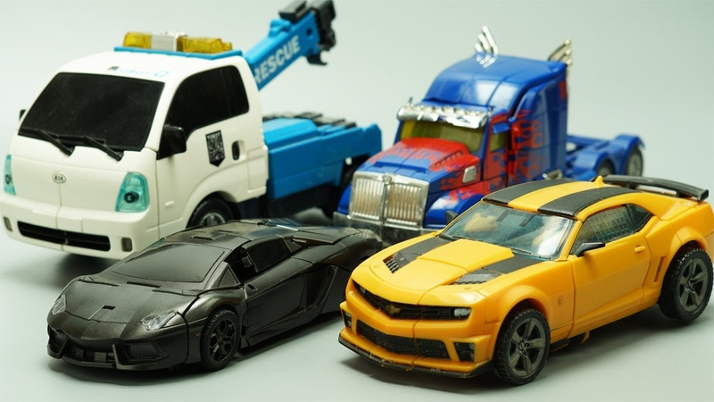 Stop Motion TRANSFORMERS Lockdown vs Optimus Prime Bumblebee Tobot Robots Lego IRL Film