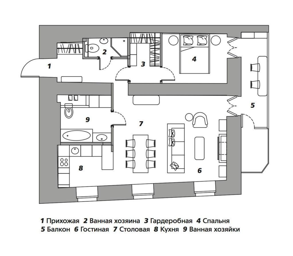 Квартира молодоженов в Москве, 70 м² от Ольги Солнышковой