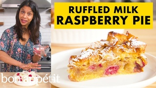 How To Make Ruffled Milk Raspberry Pie   From The Home Kitchen   Bon Appétit