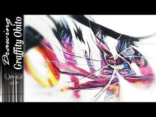 """Drawing Graffity """"Obito"""" - Obito Uchiha from Naruto: Shippuuden"""