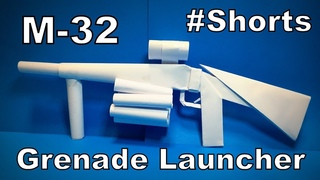 Origami Gun M32 | How to Make a Paper M32 Grenade Launcher | Easy Origami ART #Shorts