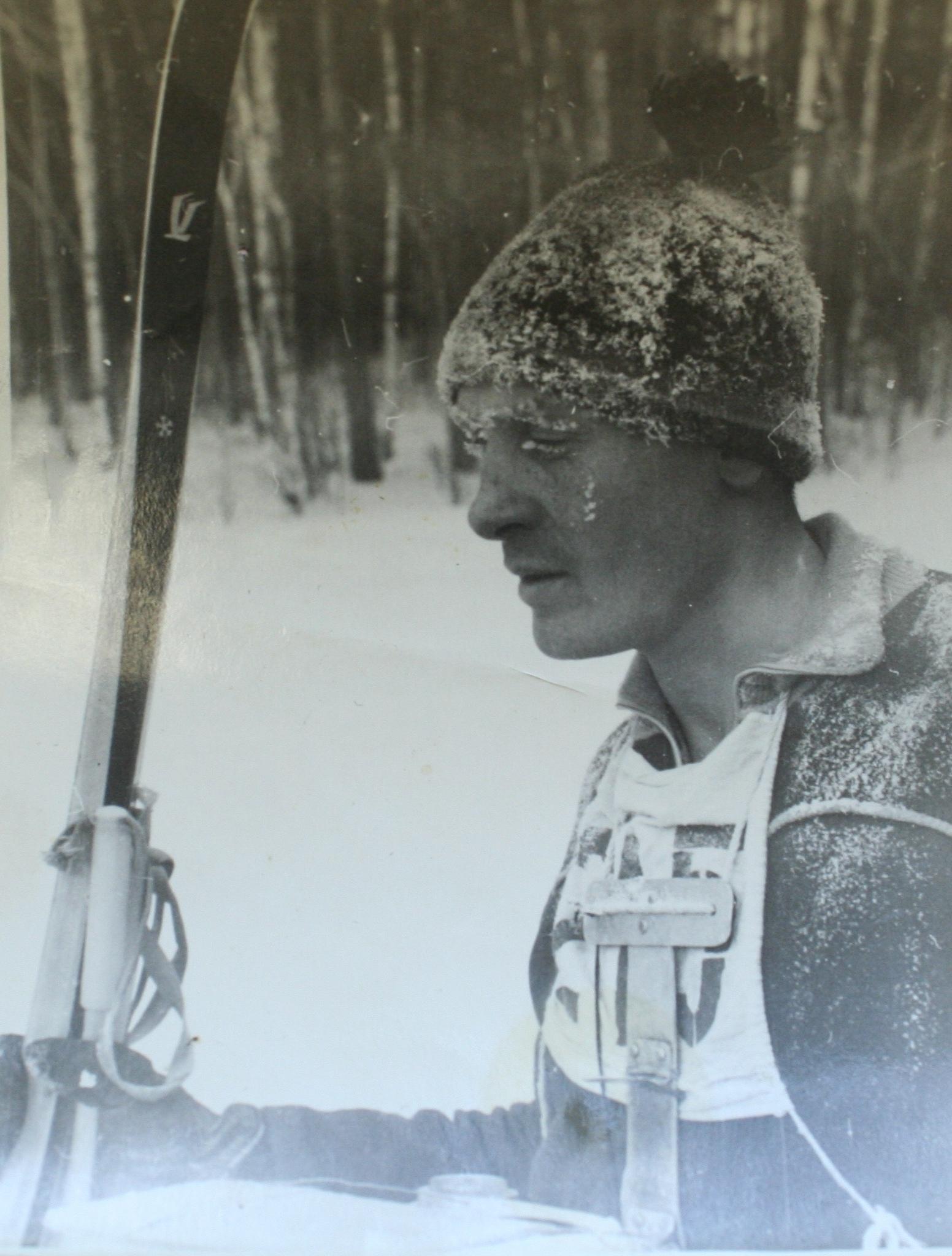 1965 год. Москва. А.Ф. Асадуллин после финиша начемпионате СССР.
