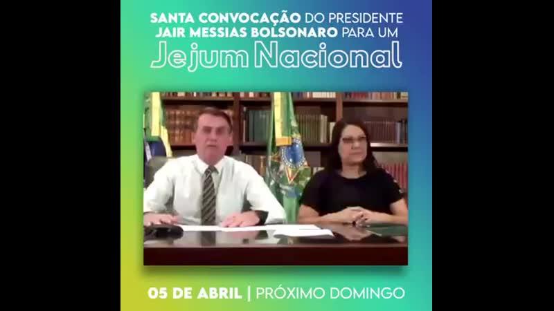 Bolsonaro convoca jejum nacional
