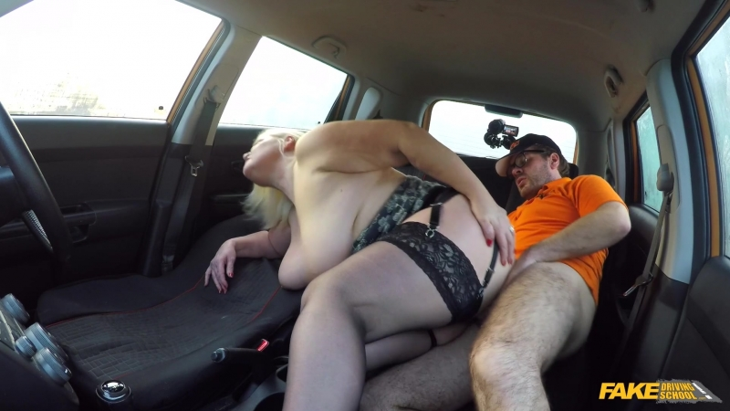 Fake Driving Lacey Starr Busty Mature MILF Fucks
