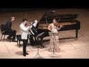 Moszkowski Suite for Two Violins Piano 2nd mvt G Schmidt B Hristova V Asuncion