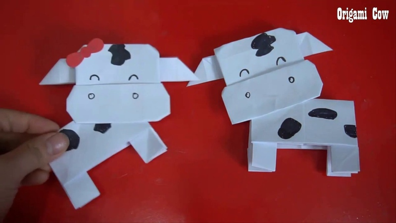 How To Make An Origami Cow Art activities for preschoolers