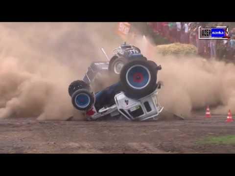 Синий трактор Гонки на тракторах Беларус на бездорожье Off road tractor Race 7