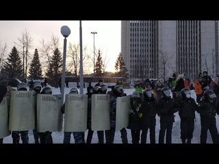 Полиция советует не выходить на улицы за Навального