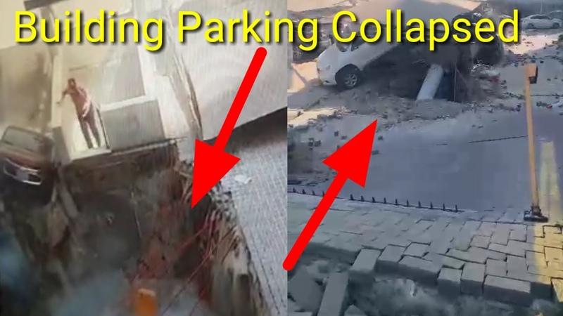 Parking Area Collapsed In Al Khobar Saudi Arabia Al Khobar Saudi Mein Parking Kshetra Dhah Gaya