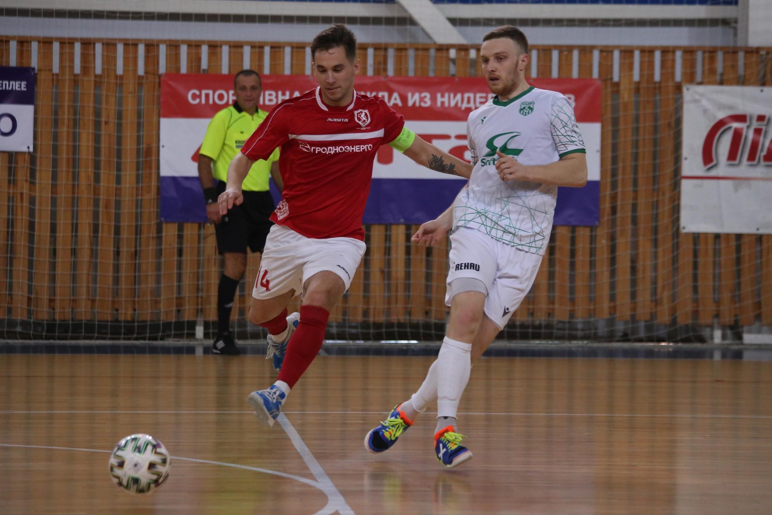 Мини-футбольный клуб «Лида» уступил «Столице».