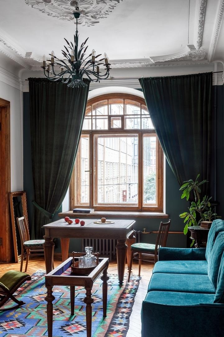 Бережно отреставрированные апартаменты Sands Rooms в доме 1911 года по проекту NOMESSPROCESS    02