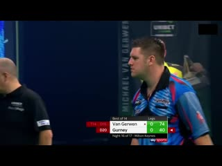 Michael van Gerwen vs Daryl Gurney (PDC Premier League Darts 2020 / Week 16)